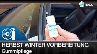 Auto Vorbereitung Herbst und Winter: Gummipflege mit Hirschtalg Türgummipflege und Gummidichtungen