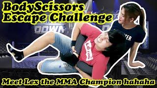 BODY SCISSORS ESCAPE CHALLENGE – Natatagong MMA skills ni Lex haha | JEMLEX