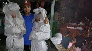 Jadi Pocong Pakai Mukena Nenek untuk Takuti Warga, 2 Remaja di Depok Dihukum Tidur di Kuburan