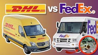 ¿QUIÉN ES MEJOR? La RIVALIDAD de empresas de ENVÍOS ¡Saqueos, precios y expansión! Caso DHL vs FEDEX