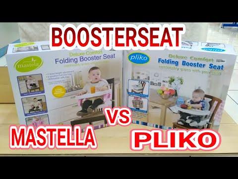 BOOSTER SEAT PLIKO vs MASTELA