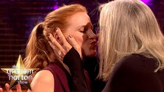 Diane Keaton Kisses Jessica Chastain... and Everyone Else! | The Graham Norton Show