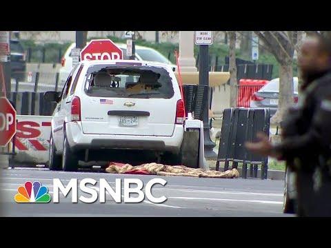 Secret Service: Driver 'Apprehended' After Hitting Barrier Near White House | Velshi & Ruhle | MSNBC