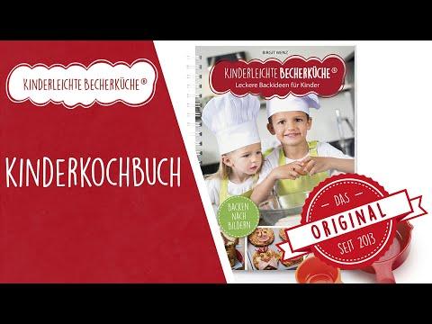Kinderkochbuch - Backbuch für Kinder - Zutaten abmessen mit Cups - Kinderleichten Becherküche