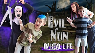 The Evil Nun Horror Game In Real Life (FUNhouse Family)