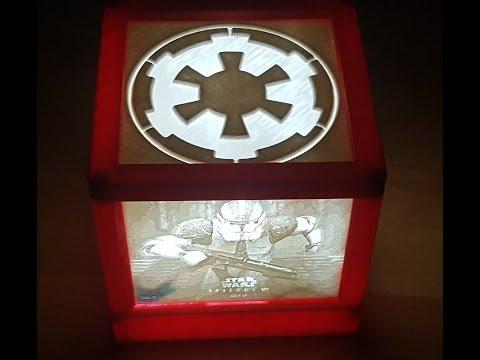 3D Druck/Print Lithographie / Lithophane Lampe (Star Wars Motiv)
