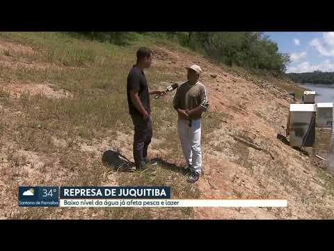 Baixo nível de água na Represa de Juquitiba preocupa moradores