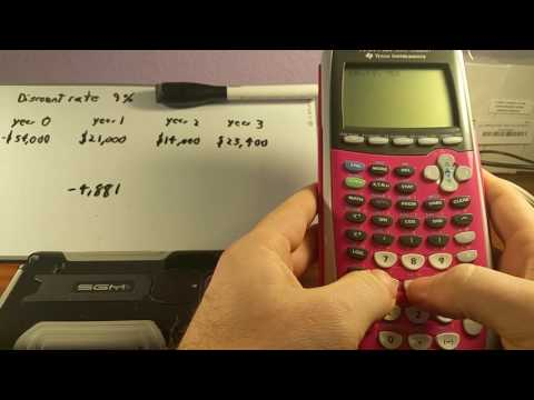 Net Present Value NPV with TI 84 Plus