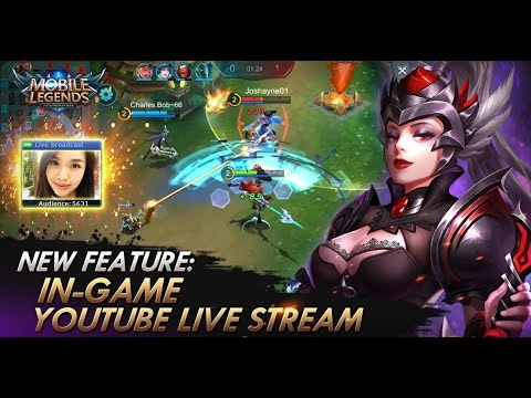 Video Mobile Legends Bang Bang Make a live streaming on YouTube in Mobile Legends!