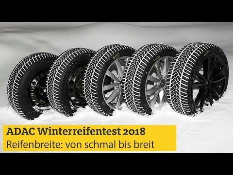 ADAC Test Reifenbreite 2018: Winterreifen von schmal bis breit I ADAC