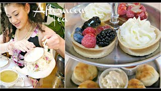 AFTERNOON TEA PARTY ! HOW TO DIY +ETIQUETTE LESSON FOR AMERICAN TEENS !