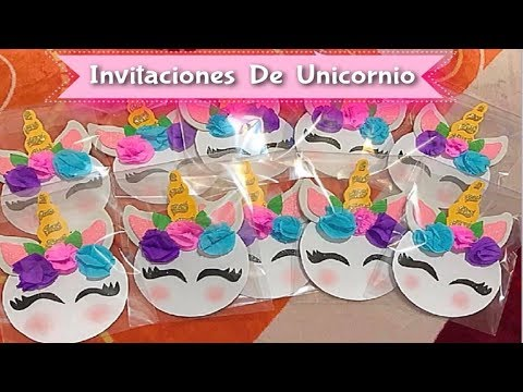Como Hacer Invitaciones De Unicornio