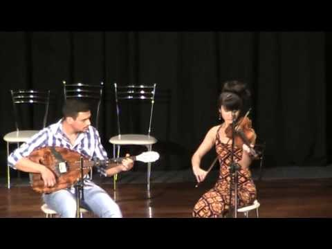 Aya Safiya and Giorgos Dhrakos at the Traditional Music Festival of Leros