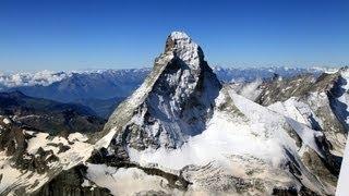 a flight through the Swiss Alps