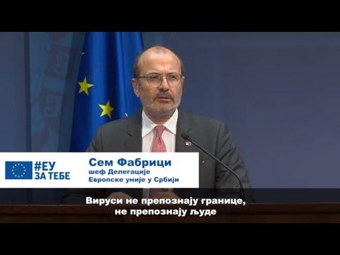 EU hitno odobrila 7,5 miliona evra pomoći Srbiji u borbi protiv korona virusa