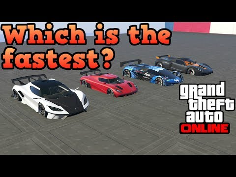 GTA Online - All SA Super Sport Supercars In A Drag Race!