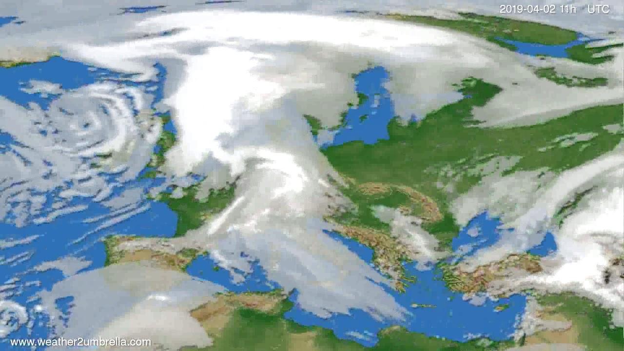 Cloud forecast Europe 2019-03-30