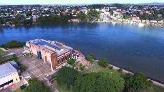 Brisbane City flying with a DJI Drone.