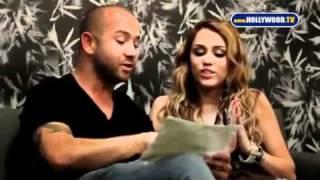 Miley Cyrus & Alison Silva singing in Portuguese! Brazil Stay