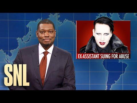 , title : 'Weekend Update: Marilyn Manson Sued, Helen Keller Doll - SNL