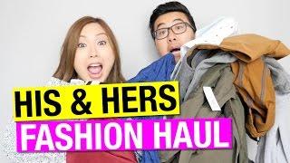 His & Hers FASHION HAUL! Top shop, Mango, Zara