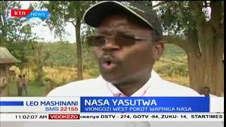 Gavana wa kaunti ya Pokot Magharibi John Lonyangapuo na seneta Samuel Poghisio wapinga NASA