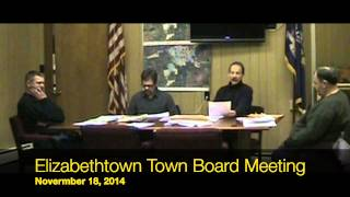 preview picture of video 'Elizabethtown, NY  November 18, 2014 Town Board Meeting'
