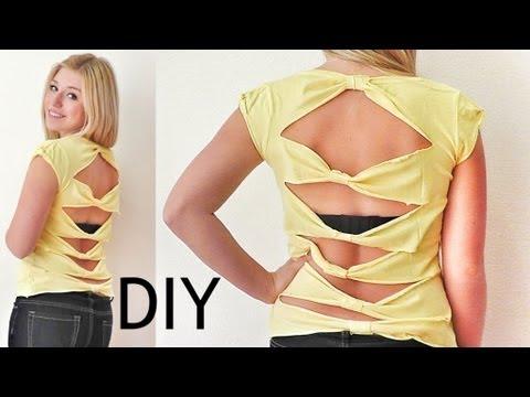 Pimp your Shirt ( rückenfrei ) - DIY