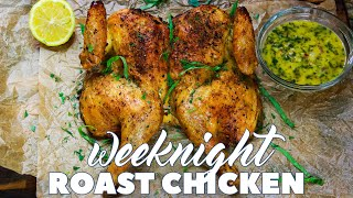 Weeknight Roast Chicken with Garlic and Herb Butter Sauce | Keto & Low-Carb | CarnalDish