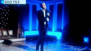 Joe McElderry singing Silent Night at QVC Friday 25th Nov 2011