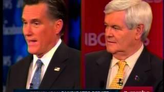 Romney on Negative Attacks Against Newt- Politics Ain't Bean Bag