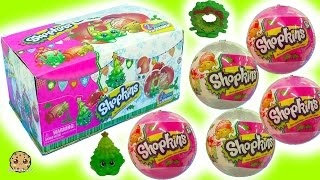 Full Box Shopkins Surprise Holiday Christmas Blind Bag Ornament Balls -  Complete Exclusive Set