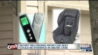 Baby's abuse recorded after worried mother plants bug in 7-month-old's car seat