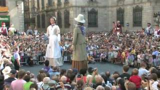 preview picture of video 'Mercè 2009. Ball dels Gegants de la Sagrada Família'