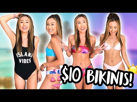 TRYING ON BIKINIS UNDER $10