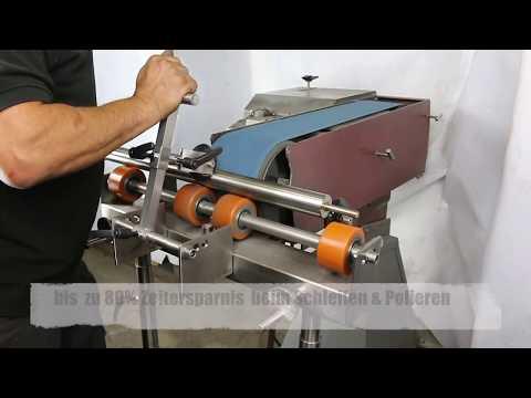 R2SM - Schleifvorrichtung für Bandschleifmaschine Rundrohre Schleifen in 10Sec  Edelstahl Schleifen
