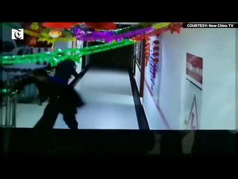 CCTV captures moment 6.4-magnitude earthquake hits Xinjiang, China