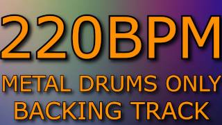 METAL DRUMS // BACKING TRACK // 220 BPM