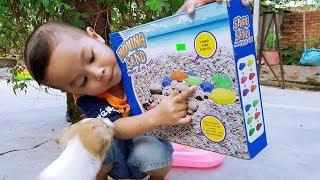 Trò Chơi Cát Động Lực Nặn Con Vật ❤ ChiChi ToysReview TV ❤ Đồ Chơi Baby Doli