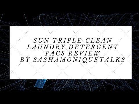 SUN TRIPLE CLEAN LAUNDRY DETERGENT PACS
