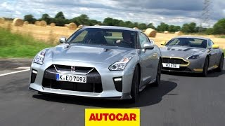 [Autocar] MY2017 Nissan GT-R chased by Aston Martin V12 Vantage S Onboard