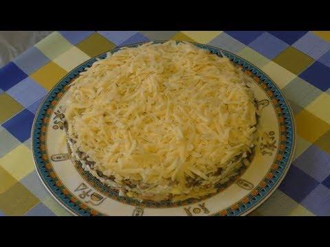 Что приготовить на ужин? Конечно,вкусно и быстро-салат ПУШИНКА с грибами и крабовыми палочками