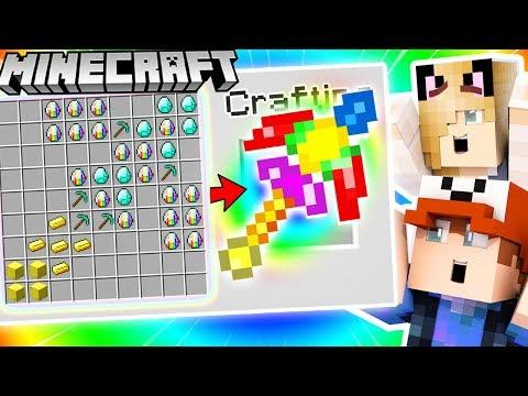 JAK ZROBIĆ EPICKI TĘCZOWY KILOF ZA 100,000$ (Minecraft 1.13 Crafting)   Vito i Bella