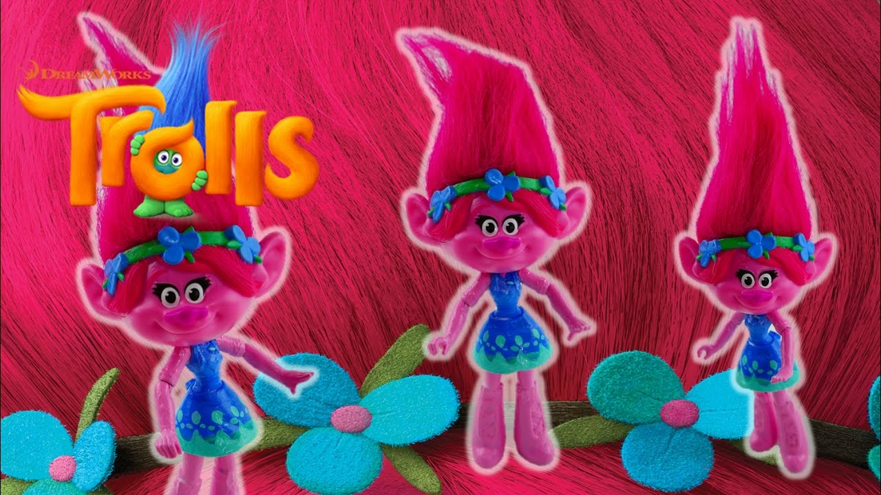 How to make 2016 Trolls Movie Doll Poppy from McDonalds Happy Meal and MLP Equestria Girls Mini