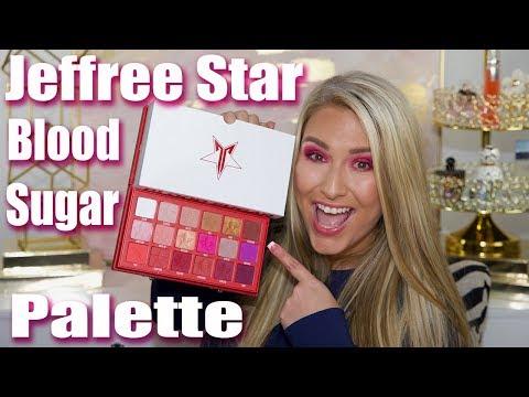 Jeffree Star Blood Sugar Palette - First impressions, tutorial & swatches!
