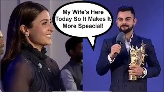 Virat Kohli ROMANTIC Speech For Wife Anushka Sharma At BCCI Awards