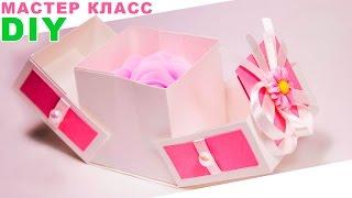 Как сделать подарочную КОРОБКУ своими руками? | StasiaCool DIY