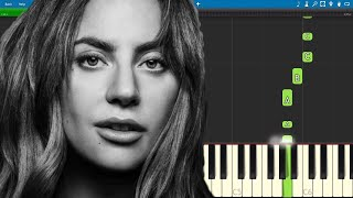 Always Remember Us This Way EASY Piano Tutorial   Lady Gaga   A Star Is Born