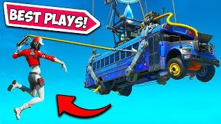 MOST *INSANE* HARPOON GUN PLAYS!! - Fortnite Funny Fails and WTF Moments! #733