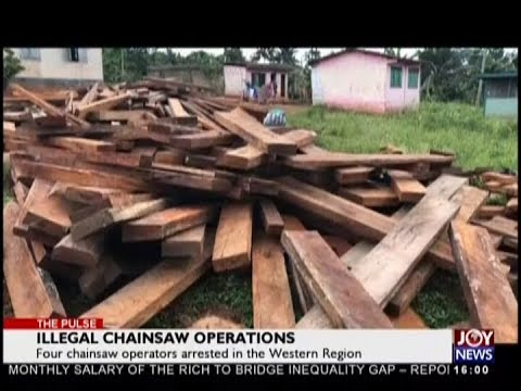 Illegal Chainsaw Operations - The Pulse on JoyNews (20-9-18)